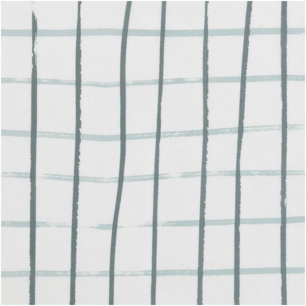 Grey, Checked (100% Algodón) <br> Trozo 140 x 50 cm