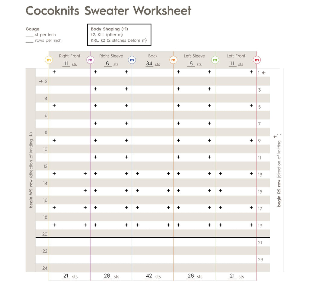 Sweater Worksheet Journal - Julie Weisenberger