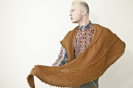 "Patrón Chal "" Iberian Discovery "" <br> West Knits"