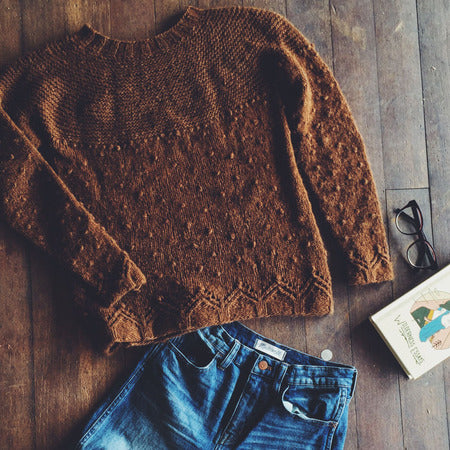 "Patrón Sweater "" Little Cabin "" <br> Boyland Knitworks"