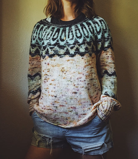 "Patrón Sweater "" Sunset Highway "" <br> Boyland Knitworks"