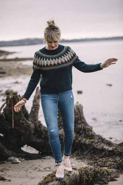 "Patrón Sweater "" Throwover "" <br> Drea Renee Knits"