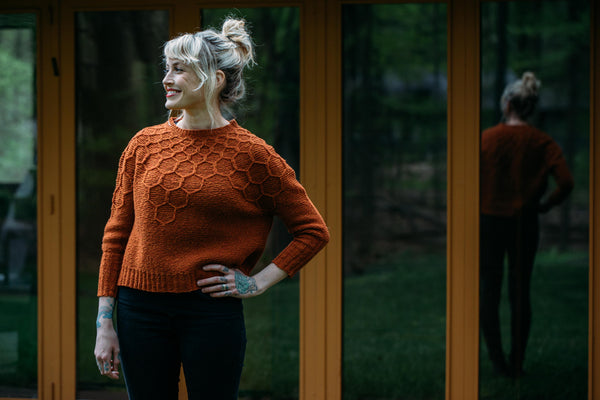 "Patrón Sweater "" Wool and Honey "" <br> Drea Renee Knits"