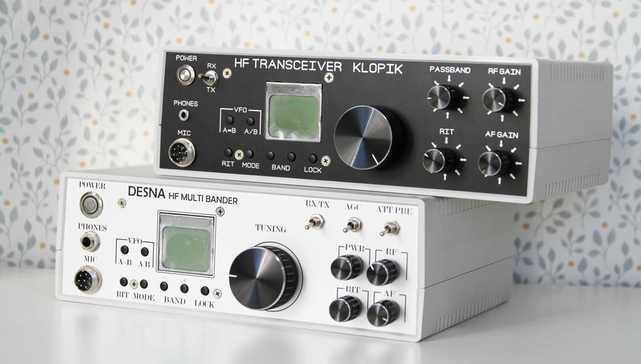 New Design of cabinets for Amateur Transceivers Desna and Klopik! Black & White!