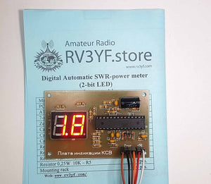 Digital SWR power meter with LED