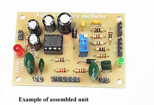 Audio Frequency Generator (AF oscillator) on LM386