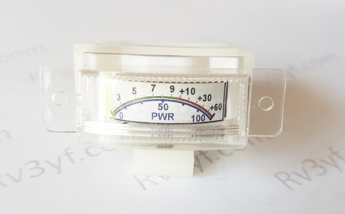Level signal indicator head (S-METER for RX and PWR for TX) table electronic instrument indicating