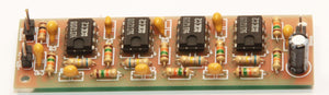 The Active Low-Pass Audio Filter for Receiver (SSB 2.4 KHz or CW 1 KHz)