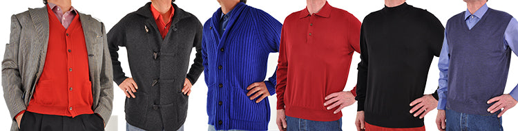 Mens Merino and Cashmere Sweaters