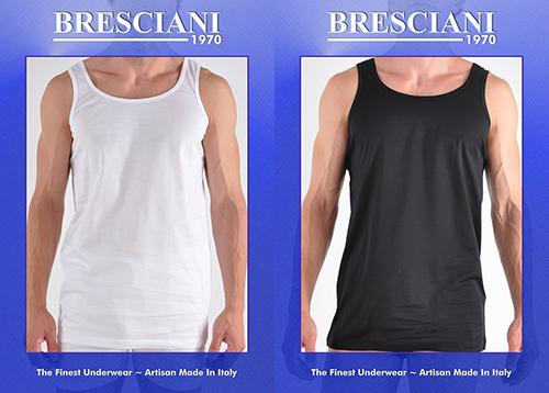 Bresciani Supremo Reale Wide Strap 2-Ply Egyptian Cotton Tank Shirt