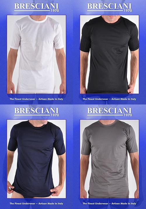 Bresciani Supremo Reale Two-Ply Egyptan Cotton Crew Neck Undershirt