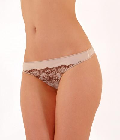 Paris 3D Illusion Lace Thong Panty