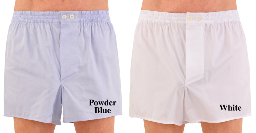 World's Finest Woven Boxer Shorts - Swiss Cotton Pinpoint