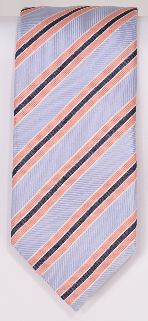Classic Kabbaz-Kelly Exclusive Limited Edition: Pink Stripe Handmade Italian Silk Necktie