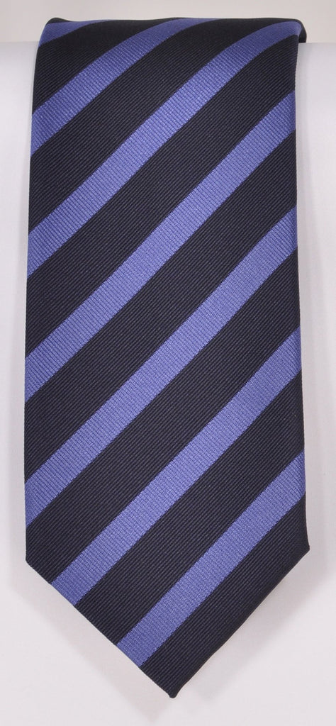 Classic Kabbaz-Kelly Exclusive Limited Edition: Blue Stripe Handmade Italian Silk Necktie