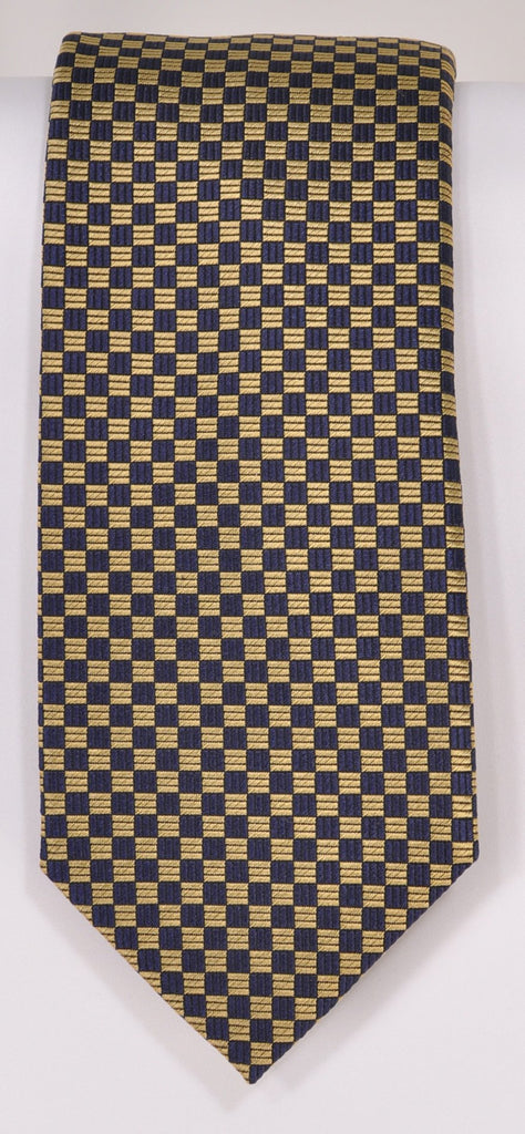 Classic Kabbaz-Kelly Exclusive Limited Edition: Yellow Neat Handmade Italian Silk Necktie