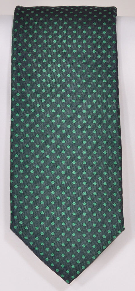 Classic Kabbaz-Kelly Exclusive Limited Edition: Green Neat Handmade Italian Silk Necktie