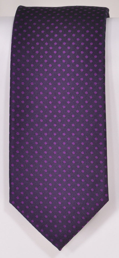 Classic Kabbaz-Kelly Exclusive Limited Edition: Purple Neat Handmade Italian Silk Necktie