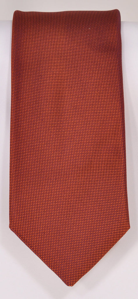 Classic Kabbaz-Kelly Exclusive Limited Edition: Burnt Orange Solid Handmade Italian Silk Necktie
