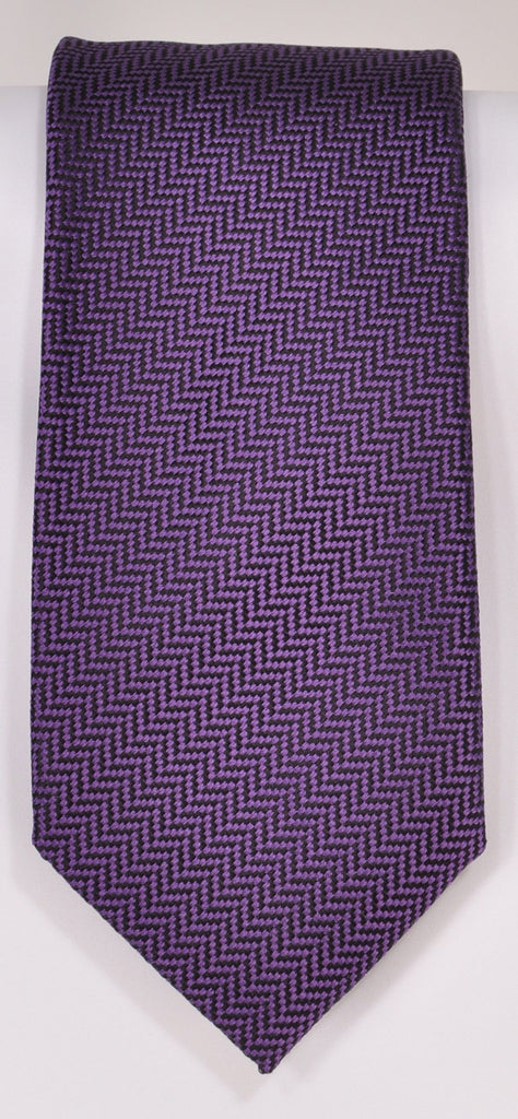 Classic Kabbaz-Kelly Exclusive Limited Edition: Purple Solid Handmade Italian Silk Necktie