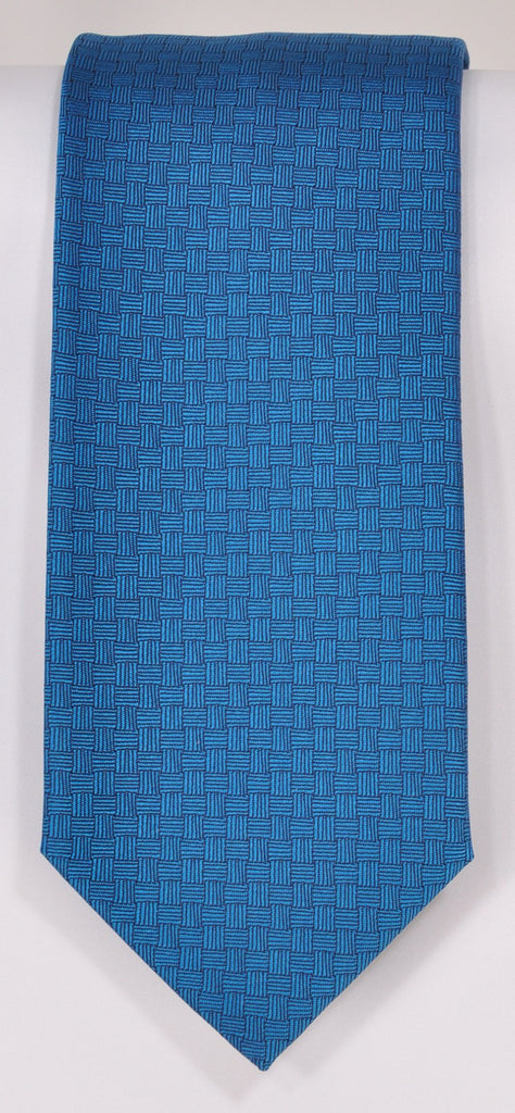 Classic Kabbaz-Kelly Exclusive Limited Edition: Aqua Blue Solid Handmade Italian Silk Necktie