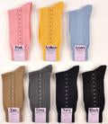 Illusional Button-Up Mid-Calf Cotton Socks