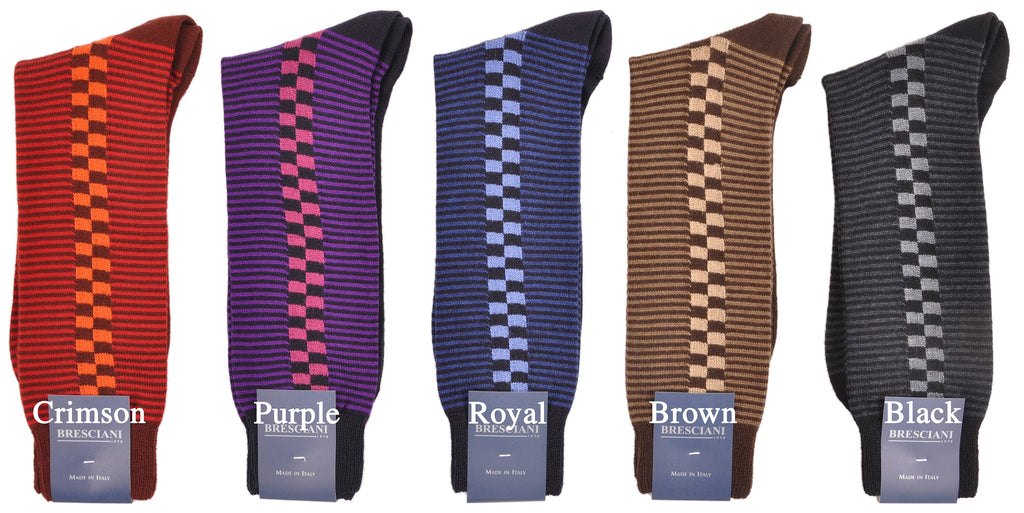 Exquisite ExtraFine Merino Mid-Calf Sir Stirling Moss Inspired Socks