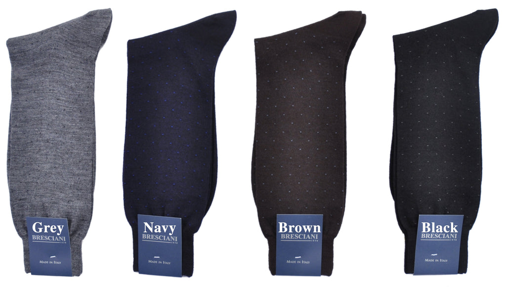 ExtraFine Merino Pin Dot Mid-Calf Dress Socks