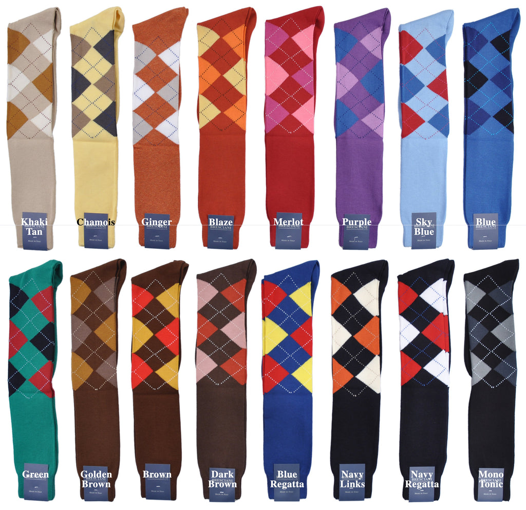 Argyles: SuperSoft Over-the-Calf Pima Cotton Socks