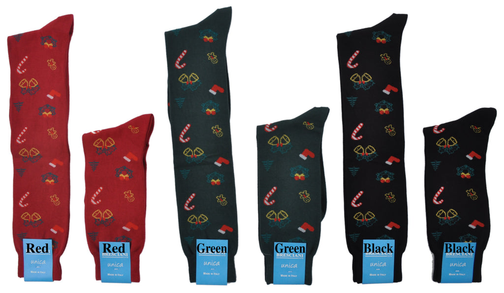 Bresciani Limited Edition Exclusive Over-the-Calf Christmas Socks