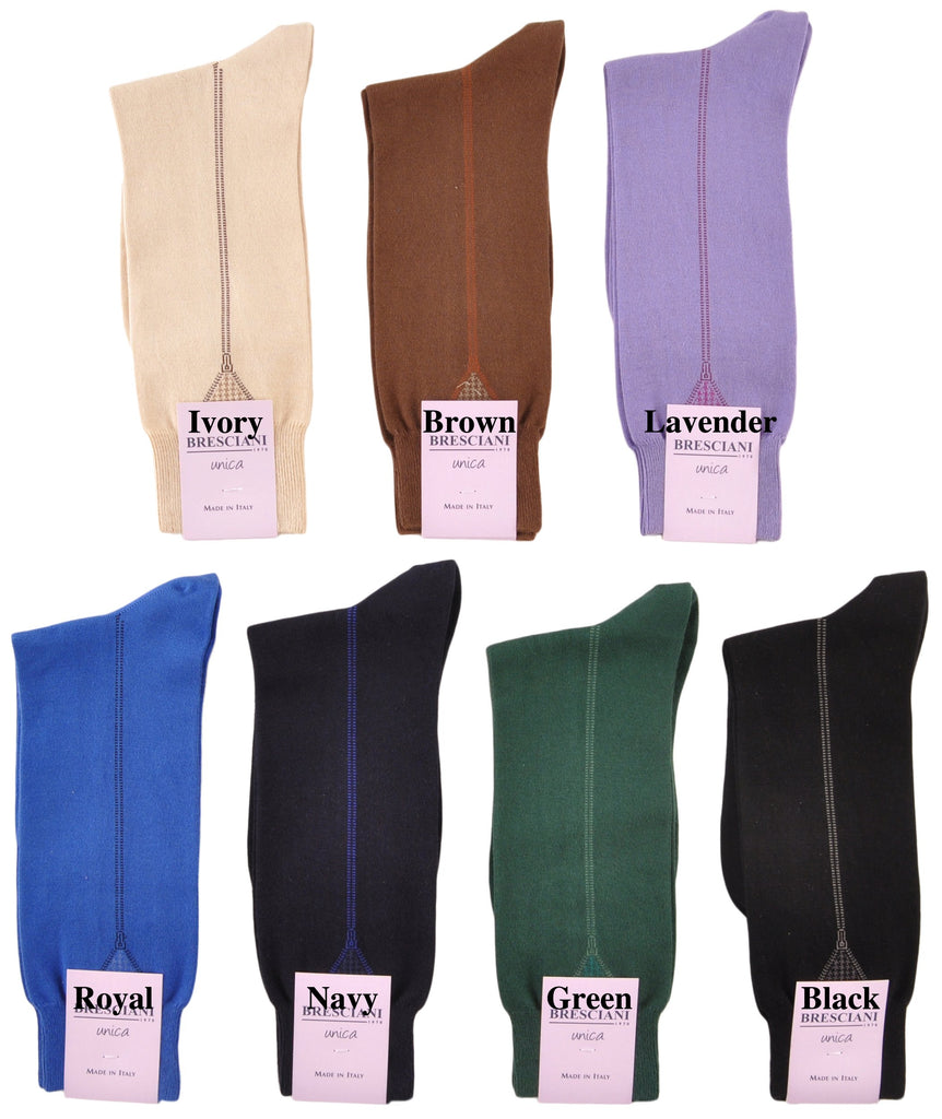 Totally Unique Zip-It Mid-Calf Cotton Socks