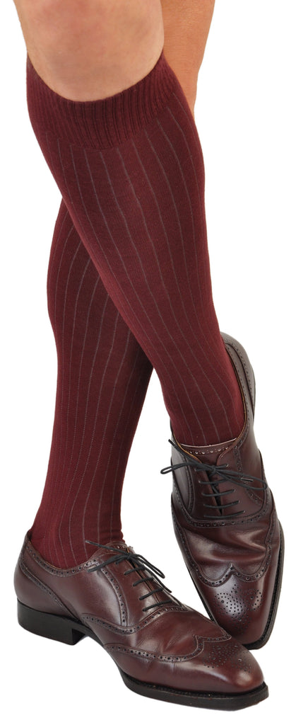 Gessato Pin Stripe - Bordeaux