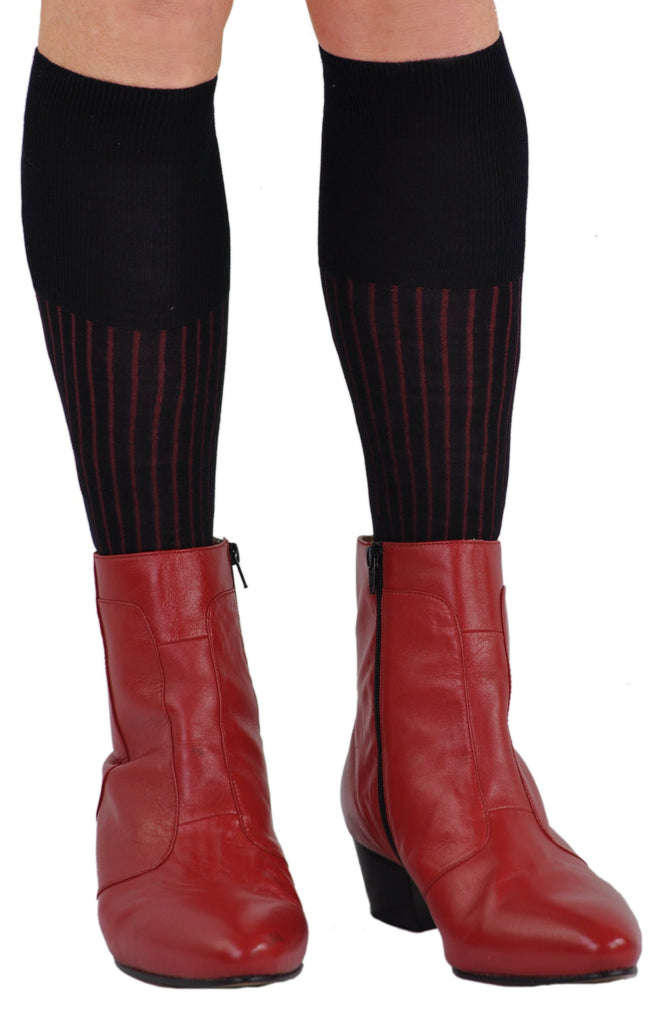 Navy/Red as a Boot Sock