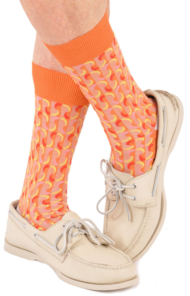Surrealistic Emotion Men's Fun Socks - High Noon in Mid-Calf