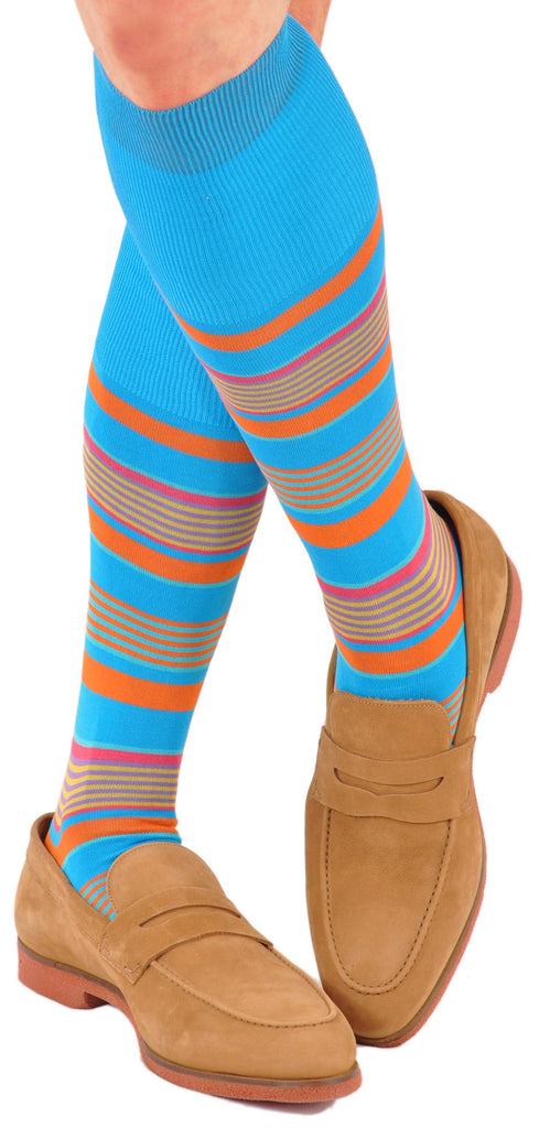 Lake Como Beach Striped Socks