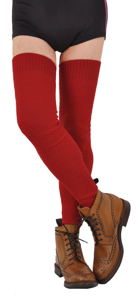 Exceptionally Long Above-The-Knee Heavy ExtraFine Merino Socks