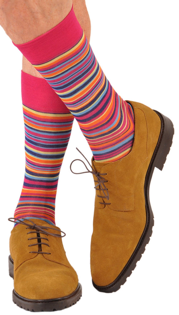 Sorrento Stripe Orange (Shown in Mid-Calf)