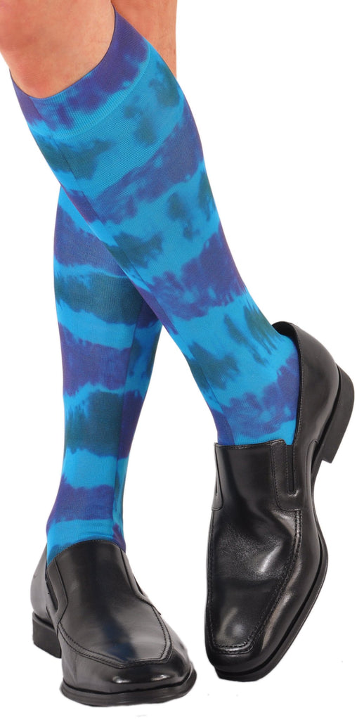 Tie Dye Blue (Shown in Over-the-Calf)