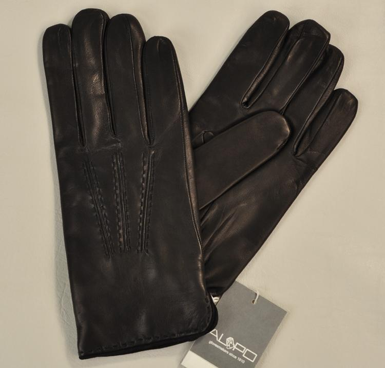 Men's Hand Made Cashmere-lined Lambskin Gloves