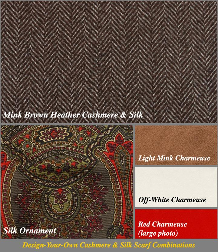 Silk Selector for Brown Heather Chevron