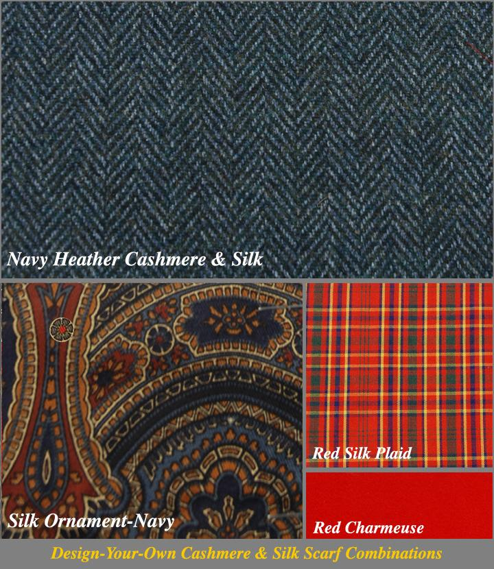 Silk Selector for Navy Heather Chevron