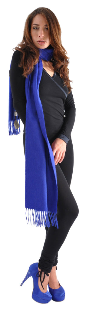 Begg Large Cashmere Scarf from Scotland-Dark Colors