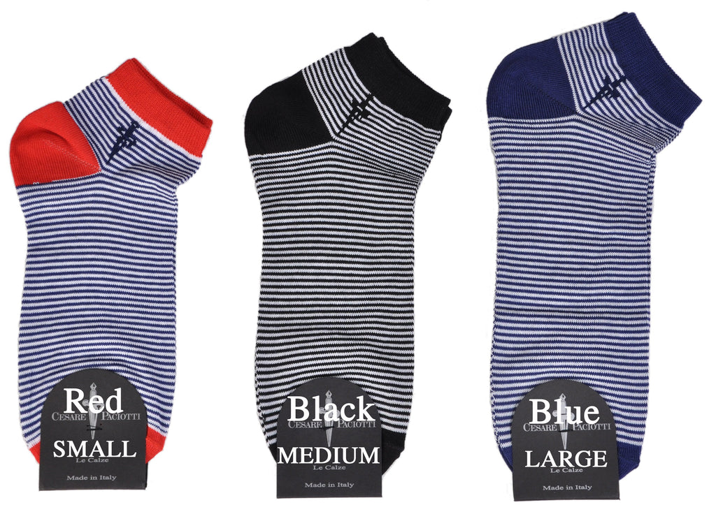 "Classic ""Regatta"" Striped Unisex Cotton Shorty Sock"