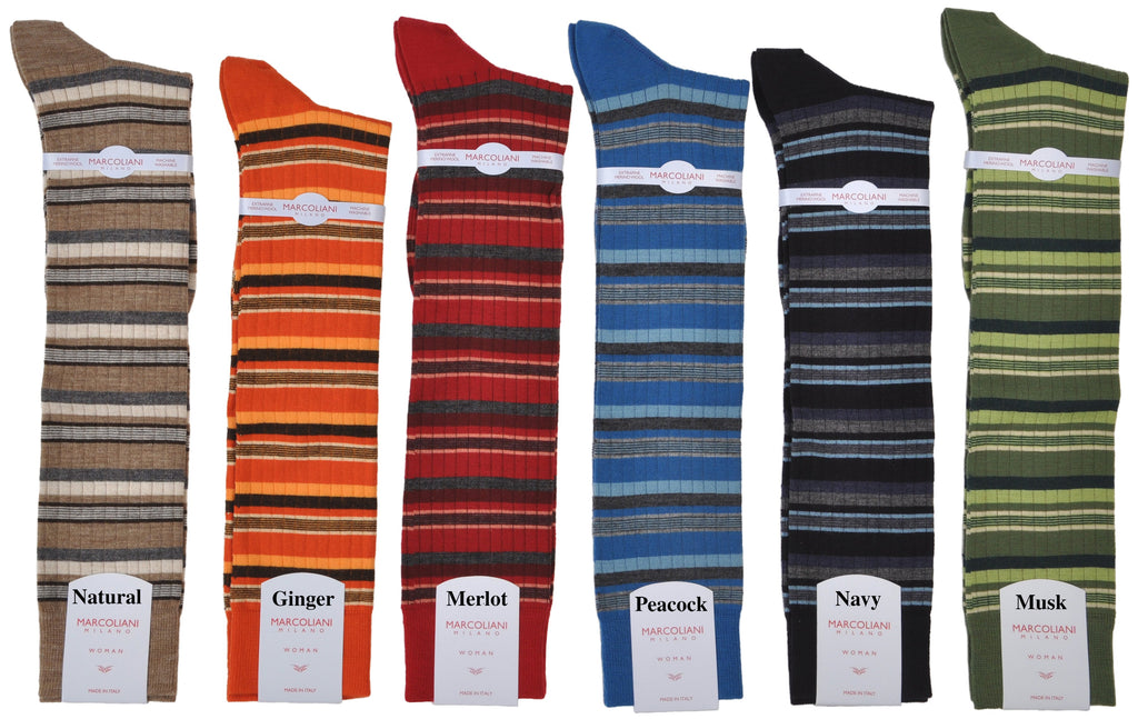 ExtraFine Merino Multi-Stripe Knee-High Socks