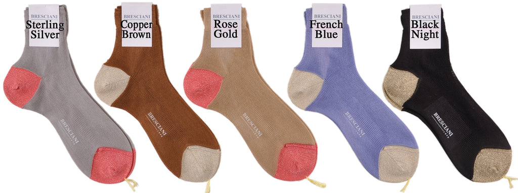 Bresciani Silk Road Sexy Shimmery Shorty Fun/Dress Glitter Socks