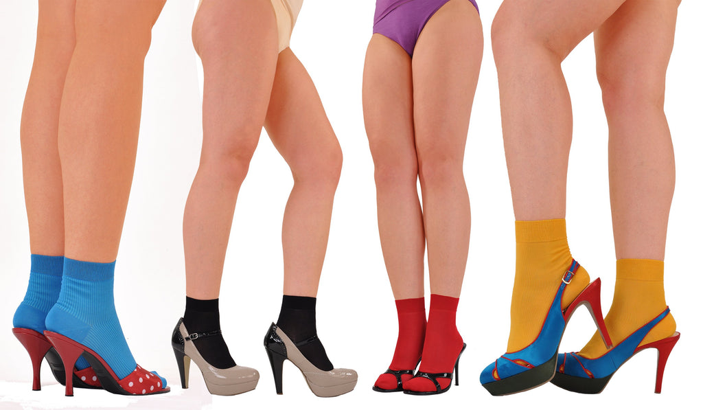 Hot Colors! Socks with Heels