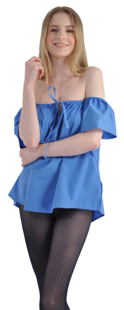 Black/Blue With Kabbaz-Kelly Cold Shoulder Top