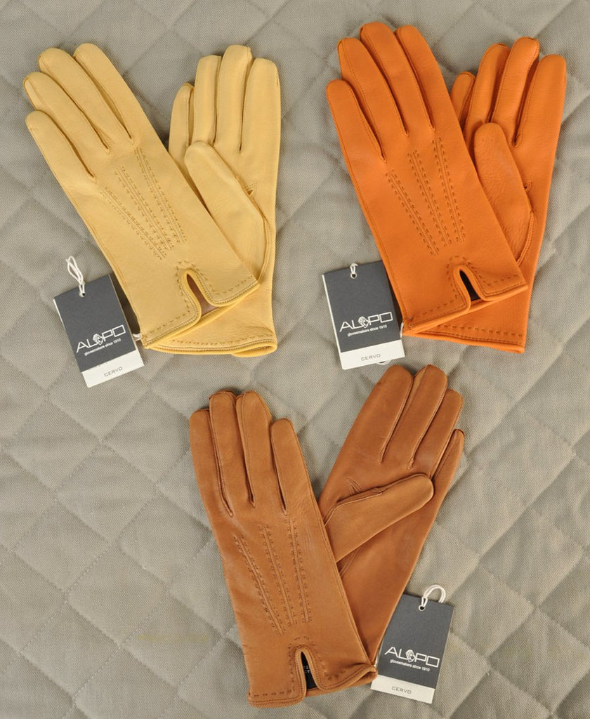 Women's Italian Silk-lined Deerskin Gloves