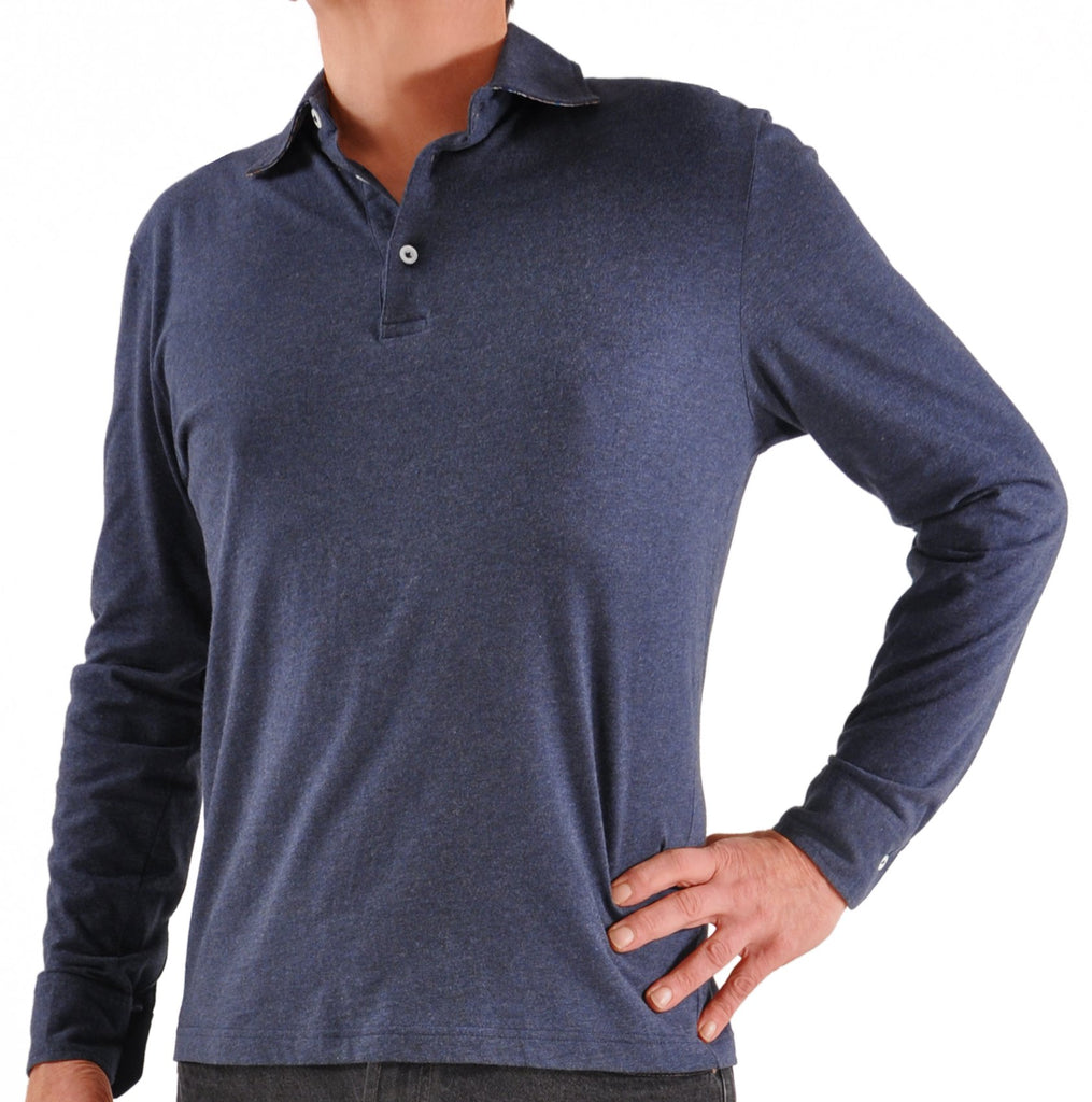 Zimmerli for Kabbaz-Kelly Exclusive Cashmere & Cotton Long Sleeve Rugby Sweater/Shirt
