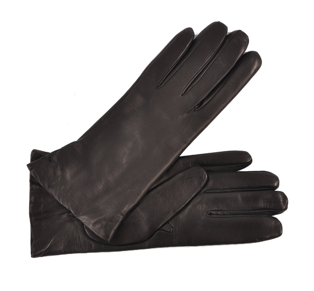 Women's Hand Made Cashmere-Lined Italian Lambskin Luxury Dress Gloves